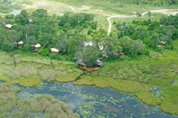 Botswana Safari Okavango Delta Baines' Camp Luftaufnahme - afrika.de