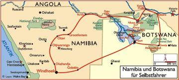 namibia botswana reisen mietwagen