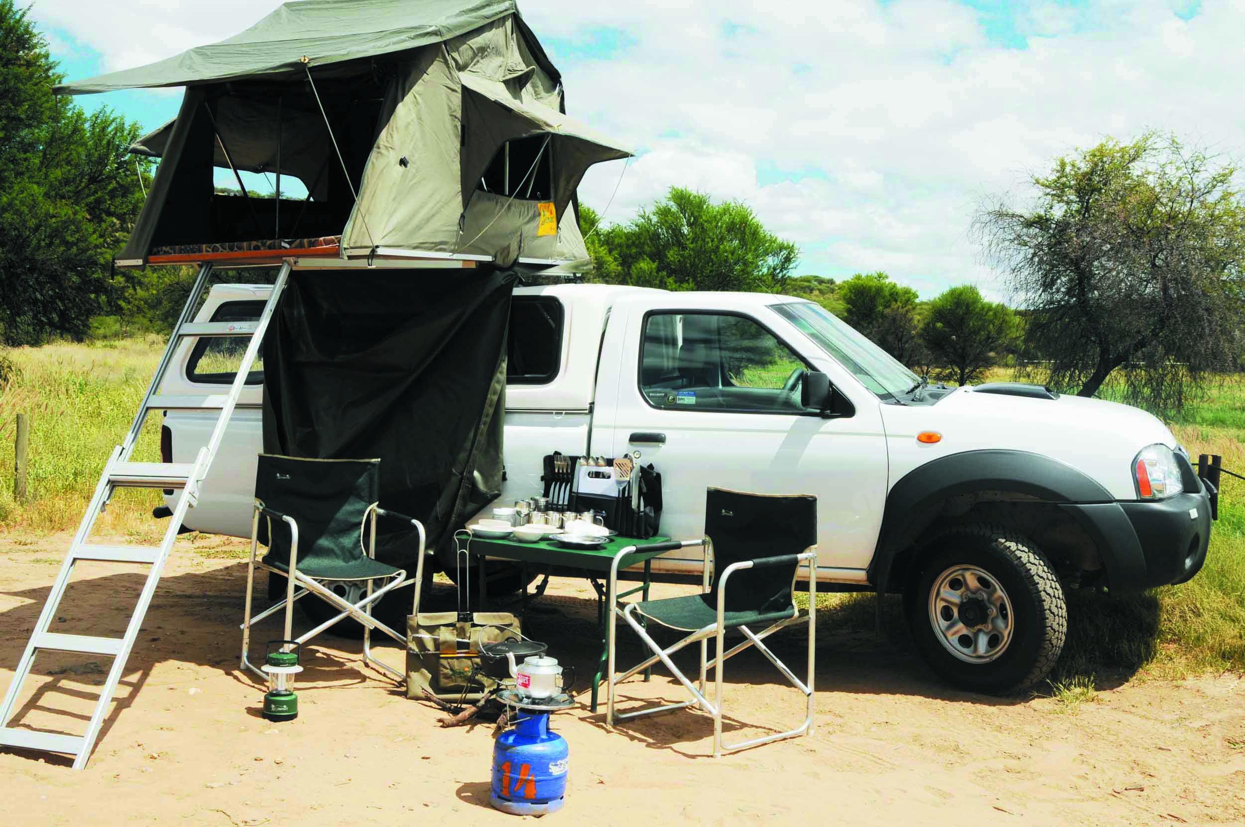 Geländewagen Namibia ausgestattet