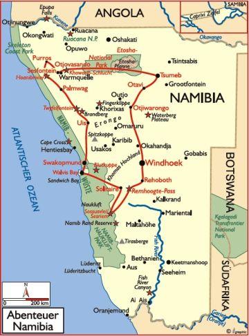 namibia reisen safari rundreise