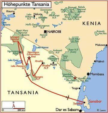 tansania flugsafari