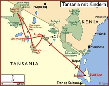 tansania safari reisen kinder