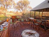 Botswana Khwai Konzession Khwai Tented Camp Feuerstelle - afrika.de