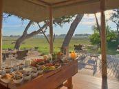 Botswana Safaris Xaranna Okavango Delta Camp Speisebereich - afrika.de
